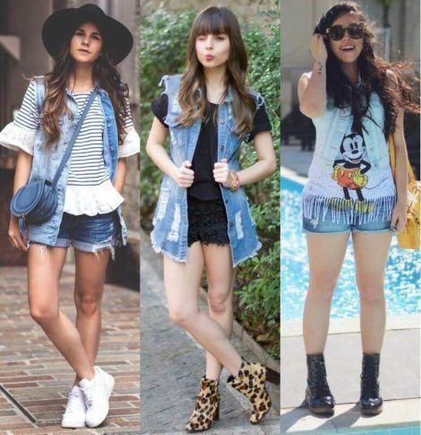 colete jeans com short 5 470x485 - Colete Jeans Feminino Confira como Combinar com Tudo