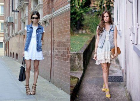 colete jeans com vestido 3 470x338 - Colete Jeans Feminino Confira como Combinar com Tudo