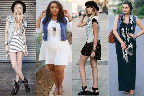 colete jeans com vestido 5 470x313 - Colete Jeans Feminino Confira como Combinar com Tudo