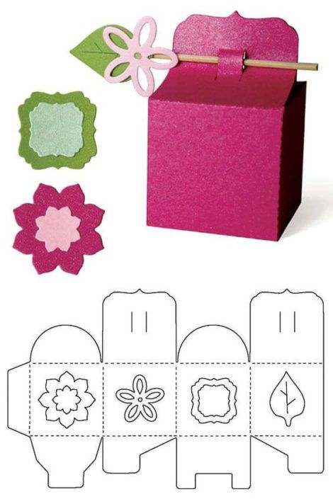 imagem 17 3 470x705 - Moldes de Caixinhas Artesanais para Imprimir