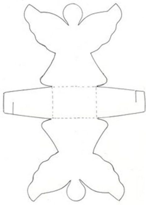 molde caixinha anjinho 470x657 - Moldes de Caixinhas Artesanais para Imprimir