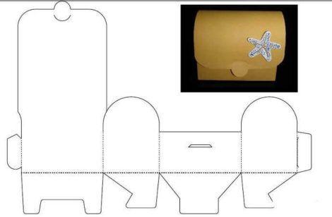 moldes de caixinha para artesanato 3 470x308 - Moldes de Caixinhas Artesanais para Imprimir