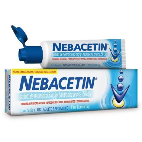 Pomada Nebacetin 470x470 - Pomada para queimadura, nomes, Tratamento