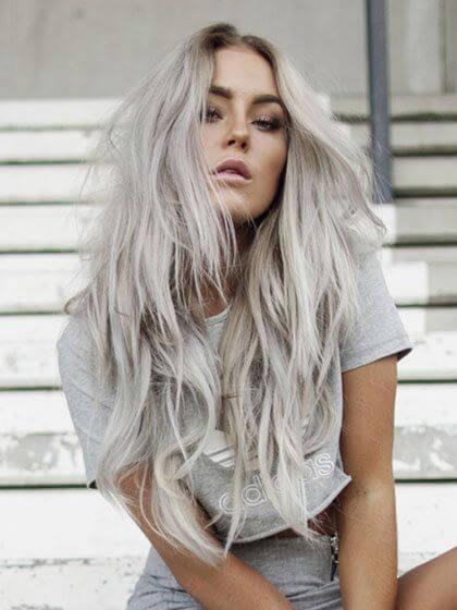 cabelo longo platinado 2 - Cabelo Platinado, O visual em vários Cortes femininos