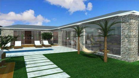 casas em l pequenas 2 470x264 - Modelos de Casas em L Configurações Modernas