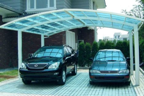 cobertura de garagem de policarbonato 3 470x313 - Cobertura de Garagem Moderna, Modelos sofisticados