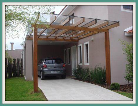 cobertura de garagem de vidro 1 470x361 - Cobertura de Garagem Moderna, Modelos sofisticados