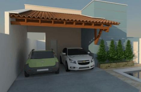 cobertura de telha de barro 470x309 - Cobertura de Garagem Moderna, Modelos sofisticados