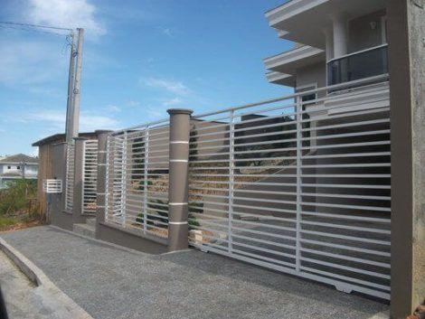 grades de faixa horizontal 1 470x353 - Modelos de Grades para Portão e muro de frente