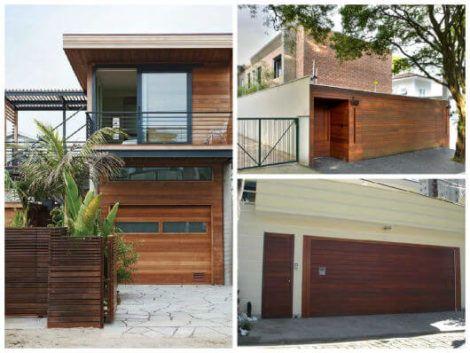grades de madeira para muro 3 470x353 - Modelos de Grades para Portão e muro de frente