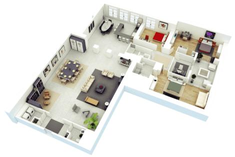 imagem 19 470x315 - Modelos de Casas em L Configurações Modernas