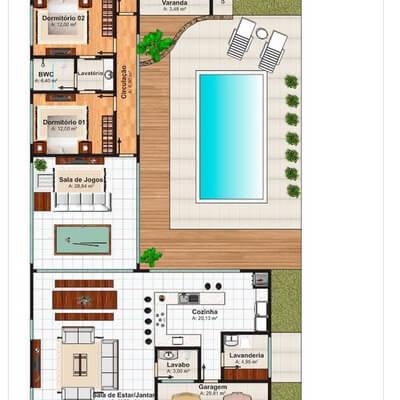 imagem 5 10 - Modelos de Casas em L Configurações Modernas