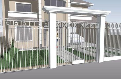 imagem 5 6 470x307 - Modelos de Grades para Portão e muro de frente