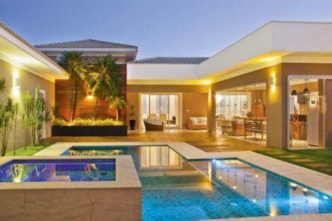 Modelos de casas em l configura es modernas moda decor for Casa moderna l