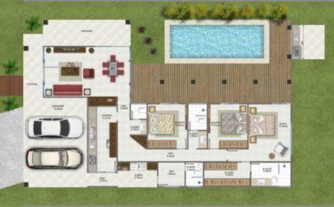 planta de casa em l 1 470x292 - Modelos de Casas em L Configurações Modernas