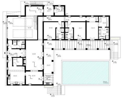 planta de casa em l 4 470x376 - Modelos de Casas em L Configurações Modernas