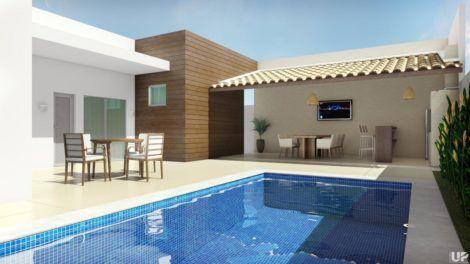 planta de casa em l com piscina 2 470x264 - Modelos de Casas em L Configurações Modernas