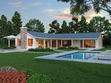 planta de casa em l com piscina 3 470x353 - Modelos de Casas em L Configurações Modernas