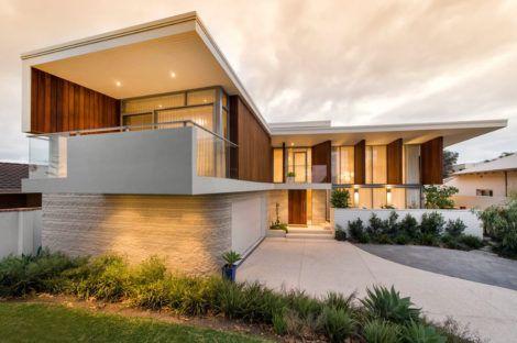 sobrados em l 1 470x312 - Modelos de Casas em L Configurações Modernas