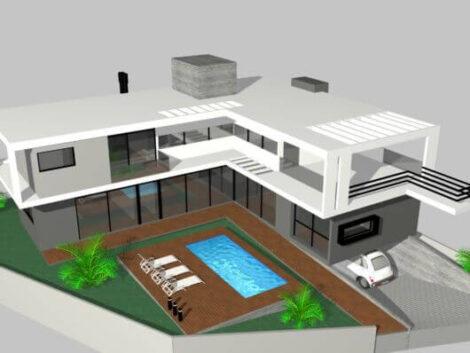 sobrados em l 2 470x353 - Modelos de Casas em L Configurações Modernas