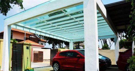 telhado de vidro de garagem 3 470x248 - Cobertura de Garagem Moderna, Modelos sofisticados